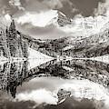 Aspen Colorado Maroon Bells Sepia Panoramic Landscape by Gregory Ballos