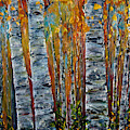 Aspen Trees By Olena Art by OLena Art