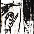 Assassin After Mikhail Larionov Black Oil Painting 10 by Artist Dot