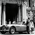 Aston Martin Db2-4 Outside The Hotel by Heritage Images