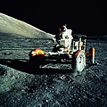 Astronaut Driving Lunar Roving Vehicle by World Perspectives