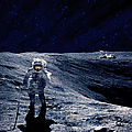 Astronaut Walking On The Moon by Adastra