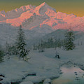 At The Foot Of The Garmisch Mountains, Bavaria, 1922  by Ivan Fedorovich Choultse