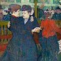 At The Moulin Rouge Two Women Walzing, 1892 by Henri de Toulouse-Lautrec