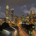 Atlanta From The Bridge Atlanta Sunset Cityscape Art by Reid Callaway