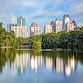 Atlanta Skyline On Lake Clara Meer - Piedmont Park View by Gregory Ballos
