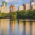Atlanta Skyline Panorama From Piedmont Park by Gregory Ballos