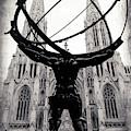 Atlas Holding The Heavens At Rockefeller Center by John Rizzuto