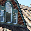 Attic Windows In Quarters At Fort Stanton New Mexico by Colleen Cornelius