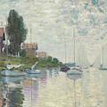 Au Petit-gennevilliers, 1874 by Claude Monet