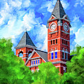 Memories Of Auburn - Samford Hall by Mark Tisdale