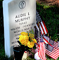 Audie Murphy At Arlington by Paul W Faust - Impressions of Light