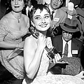 Audrey Hepburn, Holds Her Academy Award by New York Daily News Archive