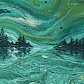 Aurora Borealis Treescape by Darice Machel McGuire