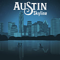 Austin Texas Skyline by Say Cheese Austin