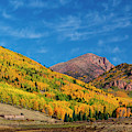 Autumn And Cirrus Clouds On Pikes Peak by Steve Krull