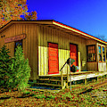 Autumn At Franklinville Train Station by Nick Zelinsky