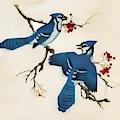 Autumn Blue Jays by D Hackett