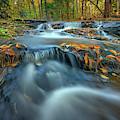 Autumn Cascade In Vaughan Woods by Rick Berk