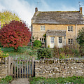 Autumn Cottages In Upper Slaughter by Tim Gainey