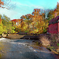 Autumn - Cranford, Nj - Droescher's Mill by Mike Savad