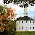 Autumn Day At Richmond Vermont Round Church by Jeff Folger