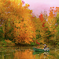Autumn - Fishing - Simply Paradise by Mike Savad