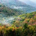 Autumn Hillsides With Mist by Thomas R Fletcher