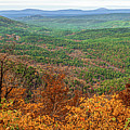 Autumn In The Ouachita Mountains - Talimena Scenic Byway Drive Panorama by Gregory Ballos