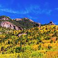 Autumn Leaves On North Face Of Pikes Peak by Steve Krull