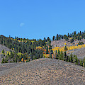 Autumn Moon Setting Panoramic View by James BO Insogna
