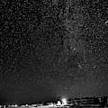 Autumn Night - Sauble Beach - Two Galaxies Bw by Steve Harrington