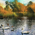Autumn On The Lake by Leigh Kemp