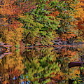 Autumn Reflections On The Chocorua River by Jeff Folger