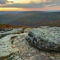 Autumn Sunset At White Rock Mountain - Winslow Arkansas by Gregory Ballos