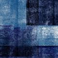 Azul Blocks 1- Art By Linda Woods by Linda Woods