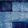 Azul Blocks 2- Art By Linda Woods by Linda Woods