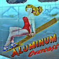 B - 17 Aluminum Overcast Pin-up by Allen Beatty
