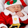 Baby Santa Sleeping by Doc Braham