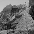 Badlands South Dakota Black And White by Jeff Swan
