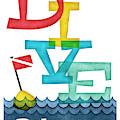 Bahamas Dive - Colorful Scuba by Flo Karp