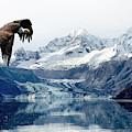 Bald Eagle Over Glacier by Weston Westmoreland