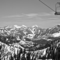 Baldy Chair Over The Wasatch Mountains Black And White by Adam Jewell