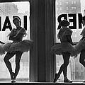 Ballerinas Standing On Window Sill In by Alfred Eisenstaedt