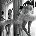 Ballerinas Standing On Window Sill In Re by Alfred Eisenstaedt