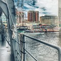 Baltimore Landscape From The Japanese Maritime Self-defense Force Training Ship, Md by Marianna Mills