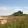 Bamburgh Castle And Beach In Summer by Victor Lord Denovan