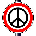 Ban The Bomb Road Sign by Bigalbaloo Stock