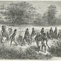 Band Of Captives In The Village Of Mbame by After Emile Bayard