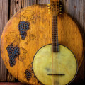 Banjo And Wine Barrel Lid by Garry Gay